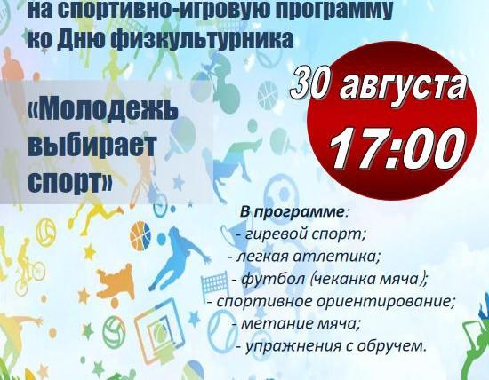 Спортивно-игровая программа 30 Августа на Бобруйской